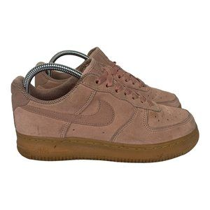 Nike Air Force One Suede Womens Size US7 UK4.5 Pink Sneakers Retro Shoes